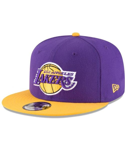 buy popular 208d0 11e04 New Era Los Angeles Lakers NBA 2Tone Official Team Colors 9FIFTY Snapback  Hat Purple Yellow