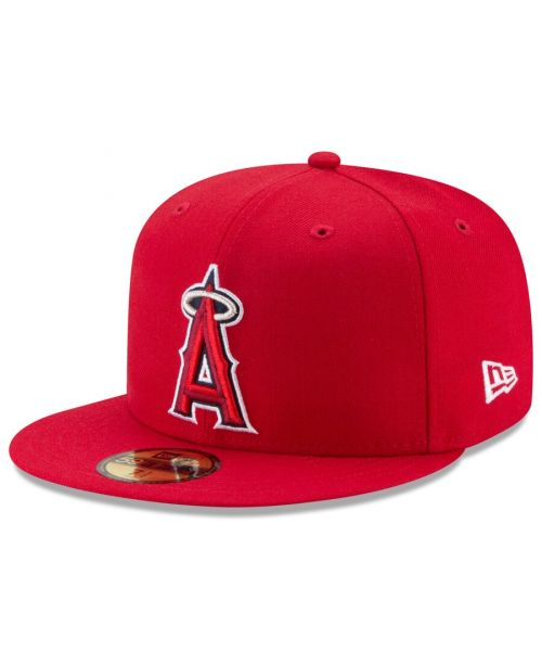 New Era Los Angeles Angels MLB Authentic Collection AC Performance 59FIFTY Fitted Hat Red