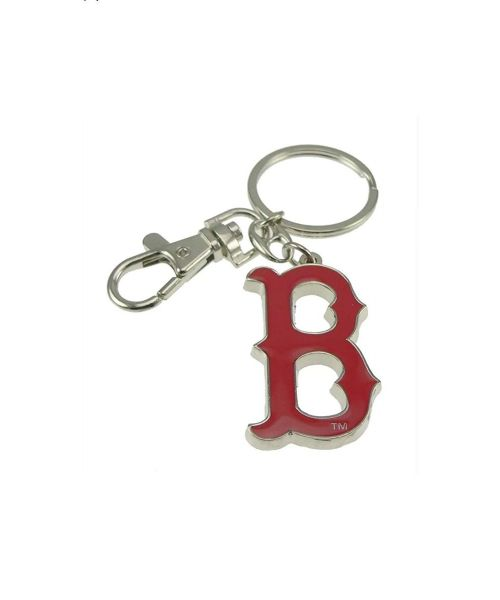 Aminco Boston Red Soxs MLB Authentic Heavyweight Metal Team Logo Keychain Red