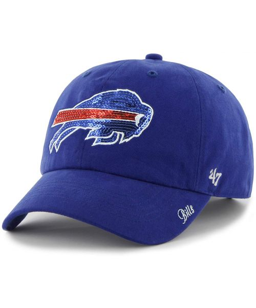32af725d53d  47 Brand Buffalo Bills NFL Clean Up Sparkle Logo WOMENS Strapback Hat Blue  ·