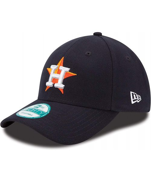 New Era Houston Astros MLB The League 9FORTY Velcroback Hat Navy Blue