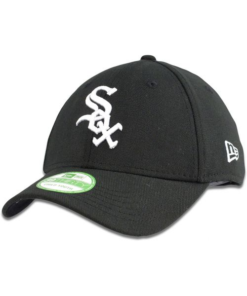 31184181a0dc0 New Era Chicago White Sox MLB Jr Team Classic 39THIRTY Stretch Fit Youth Hat  Black