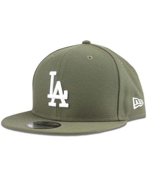 New Era Los Angeles Dodgers MLB Basic Snap 9FIFTY Snapback Hat Olive Green