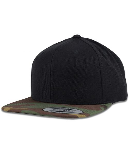 Yupoong The Authentic Tone Blank Snapback Hat Camo Black