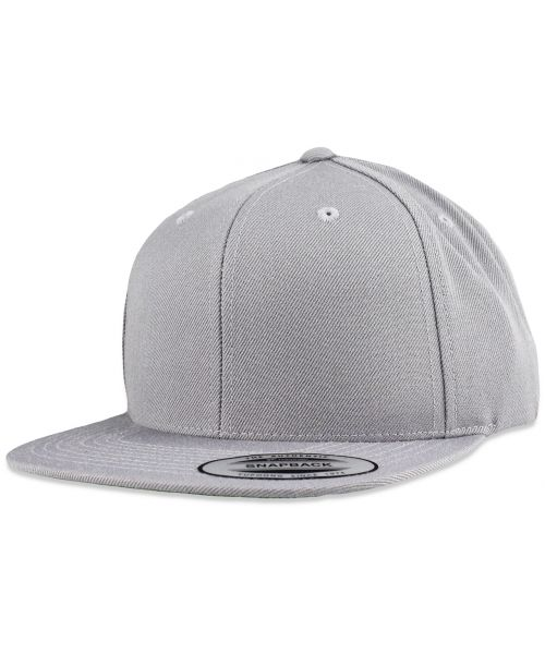 Yupoong The Authentic Premium Blank Snapback Hat Silver