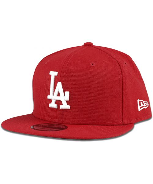 New Era Los Angeles Dodgers MLB Basic Snap 9FIFTY Snapback Hat Red