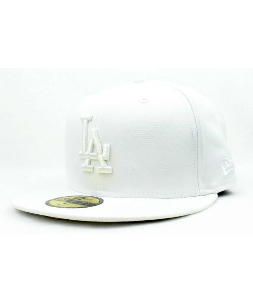 88ec3fe78c5 New Era Los Angeles Dodgers MLB Fashion 59FIFTY Fitted Hat White on White