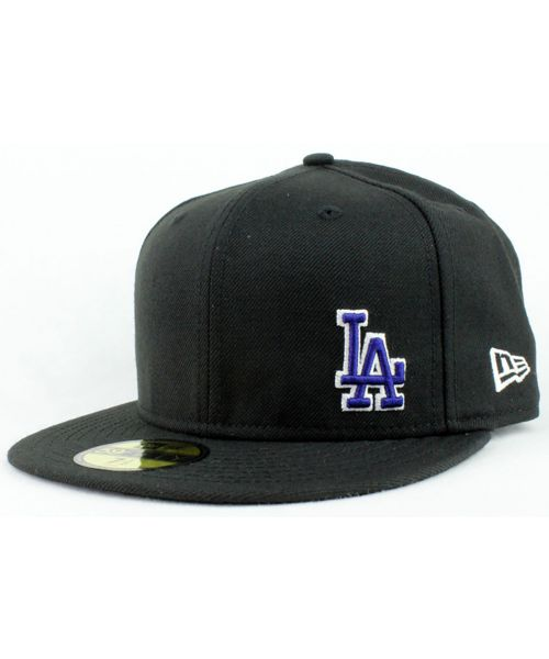 89e9fffdf80 New Era Los Angeles Dodgers MLB Authentic Special Custom Small Logo 59FIFTY  Fitted Hat Black