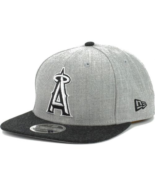 quality design 251a3 da624 New Era Anaheim Angels MLB Heather Action 9FIFTY Snapback Hat Heather Gray  Heather Black