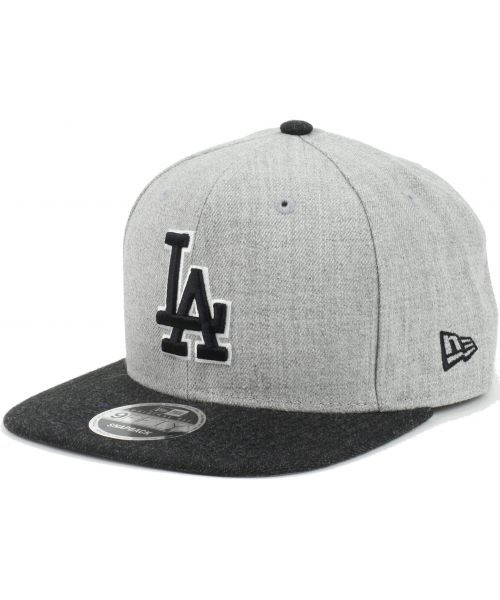a4bbb20ae5c New Era Los Angeles Dodgers MLB Heather Action Snap 9FIFTY Snapback Hat  Heather Gray Heather Black