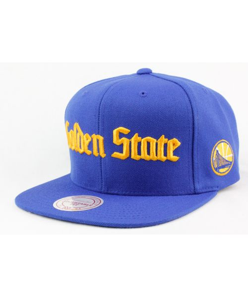 new style 790b5 cede8 ... france mitchell ness golden state warriors nba authentic gothic city  name adjustable snapback hat blue cap
