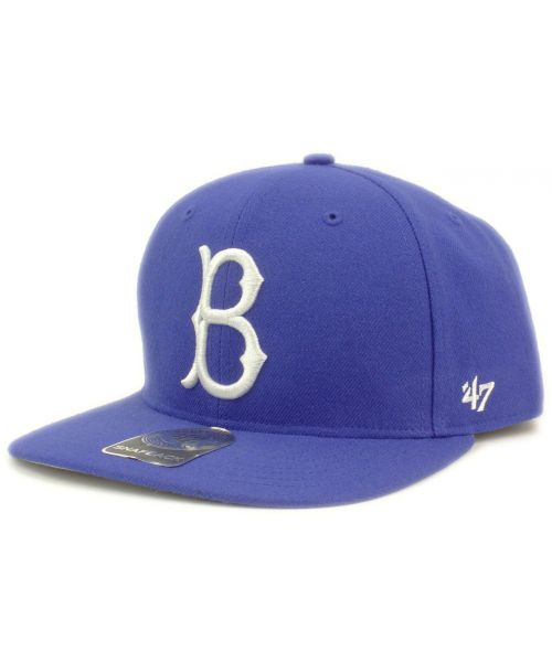 47 Brand Brooklyn Dodgers MLB Sure Shot Cooperstown Snapback Hat Blue dd737535bc14