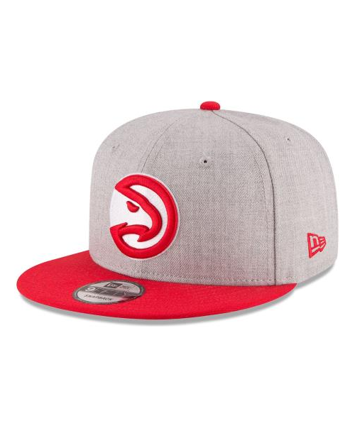 New Era Atlanta Hawks NBA 2Tone OTC 9FIFTY Snapback Hat Heather Gray Red