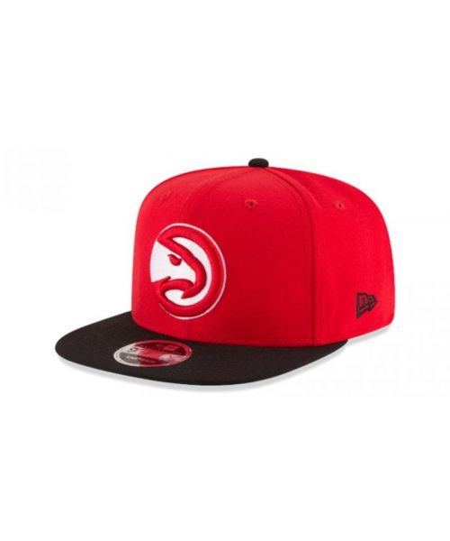 New Era Atlanta Hawks NBA 2TONE Original Fit OTC 9FIFTY Snapback Hat Red Black
