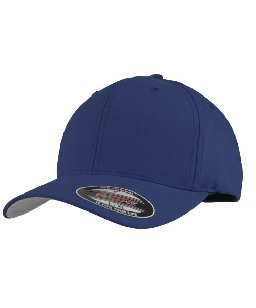 Yupoong V-FlexFit Cotton Twill Cap Blank Adjustable Stretch Fit Hat Blue