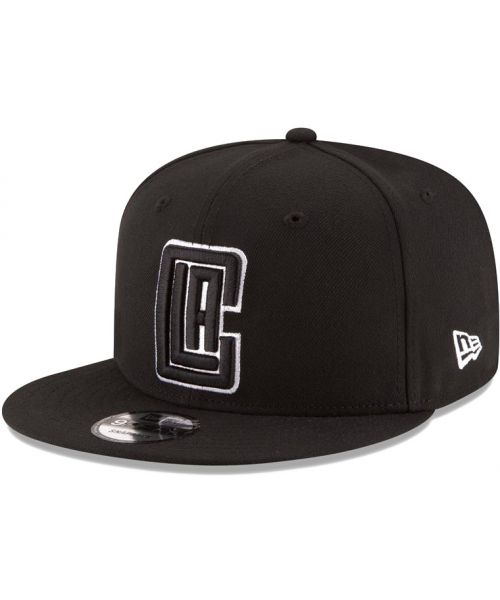 online retailer 9d5f5 368f1 New Era Los Angeles Clippers NBA League Basic 9FIFTY Snapback Hat Black on  Black White Outline Logo