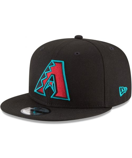 New Era Arizona Diamondbacks MLB Basic Snap OTC 9FIFTY Snapback Hat Black Teal Outline Logo
