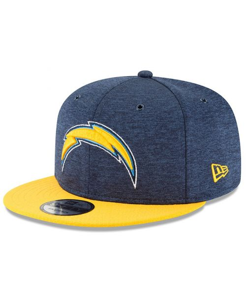 48cb3db086c New Era Los Angeles Chargers NFL On Field 2018 HM 9FIFTY Snapback Hat  Heather Navy Yellow
