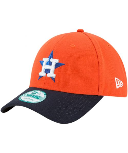 New Era Houston Astros MLB The League 9FORTY Velcroback Hat Orange