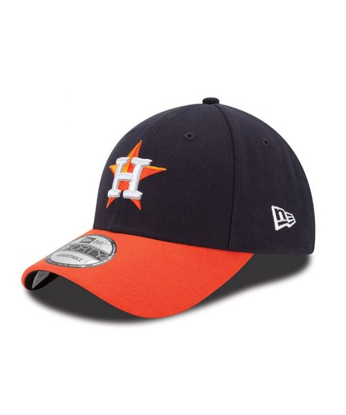 New Era Houston Astros MLB The League 9FORTY Velcroback Hat Navy Blue Orange