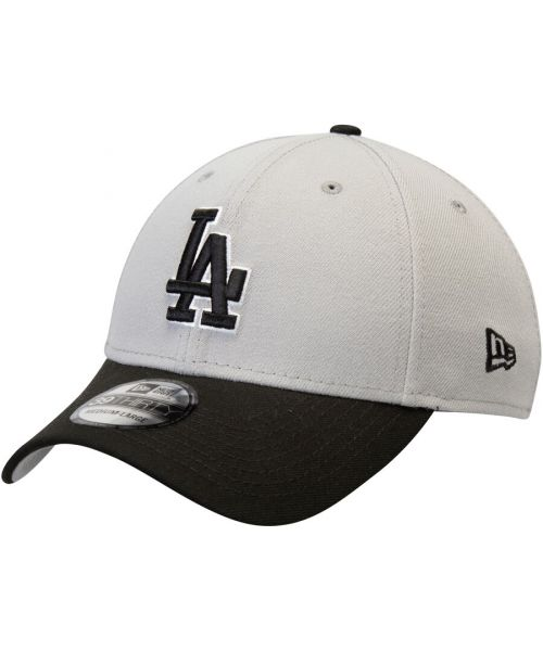 New Era Los Angeles Dodgers MLB Team Classic 39THIRTY Stretch Fit Hat Gray Black-Large-XLarge