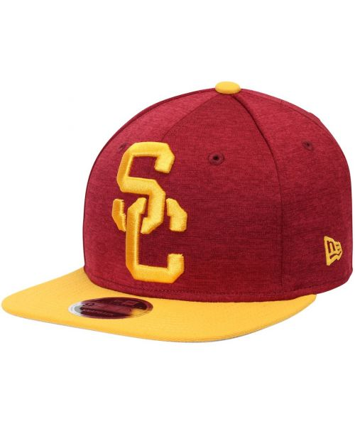 4e82a6c08f6 New Era USC Trojans NCAA Heather Huge Original Fit 9FIFTY Snapback Hat Red  Yellow