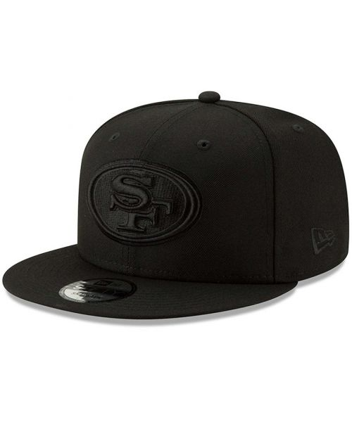 c1c033ea13787 New Era San Fransisco 49ers NFL Basic 9FIFTY Snapback Hat Black on Black