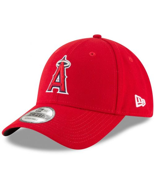 New Era Los Angeles Angels MLB The League YOUTH 9FORTY Velcroback Hat Red