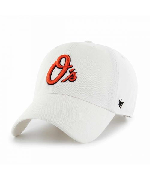 '47 Brand Baltimore Orioles MLB Clean Up Adjustable Adult Hat White