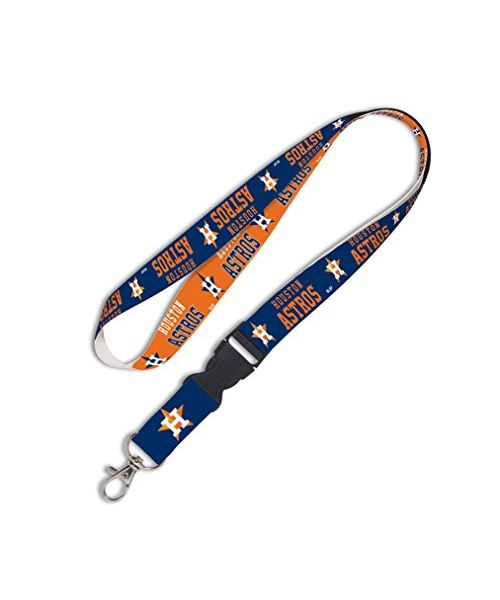 Wincraft Houston Astros MLB Authentic Lanyard Keychain Ring ID Ticket Holder Orange Blue