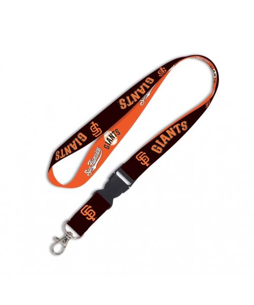 Wincraft San Francisco Giants MLB Authentic Lanyard Keychain Ring ID Ticket Holder Orange Black