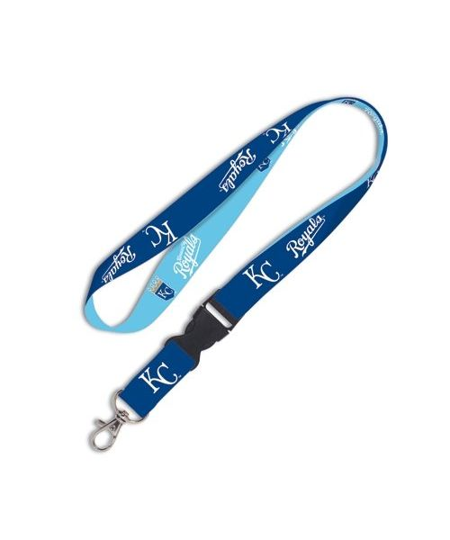 Wincraft Kansas City Royals MLB Authentic Lanyard Keychain Ring ID Ticket Holder Navy Blue Teal