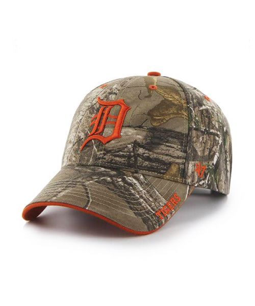 '47 Brand Detroit Tigers MLB Realtree Camo MVP Adjustable Adult Hat Brown