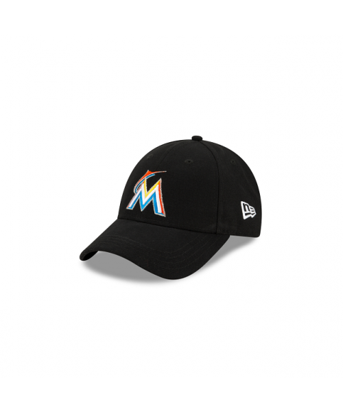 New Era Miami Marlins Jr The League Youth 2012 9FORTY Velcroback Adjustable Black Hat