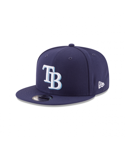 New Era Tampa Bay Rays Kids Team Color Basic 9FIFTY Snapback Adjustable Navy Blue Hat