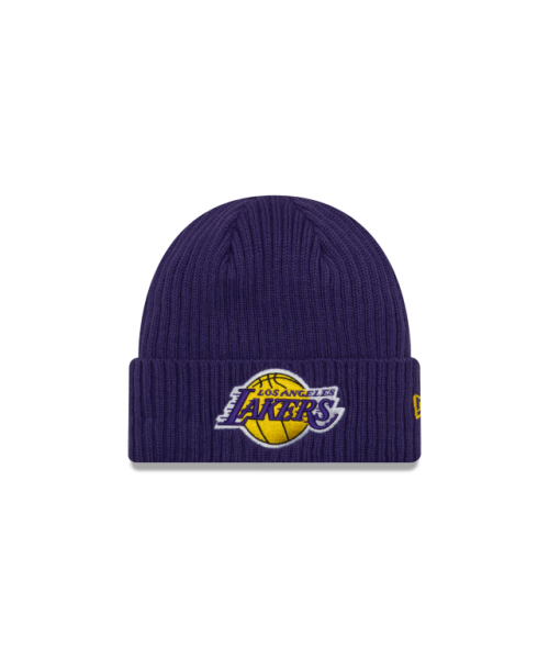 New Era Los Angeles Lakers NBA Core Classic Cuffed Knit Beanie Purple