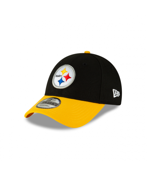 New Era Pittsburgh Steelers NFL 2Tone The League 9FORTY Velcroback Hat Black Yellow