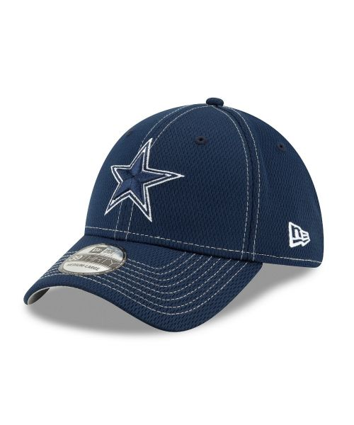 New Era Dallas Cowboys On-Field Sideline Road 39THIRTY Stretch Fit Navy Hat