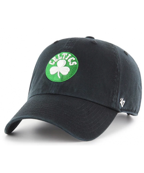'47 Brand Boston Celtics NBA Clean Up Adjustable Strapback Hat Black
