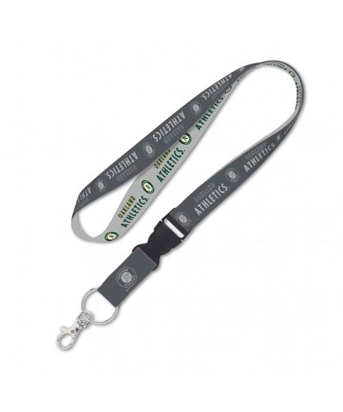Wincraft Oakland Athletics MLB One Size Lanyard with Detachable Buckle Graphite Gray