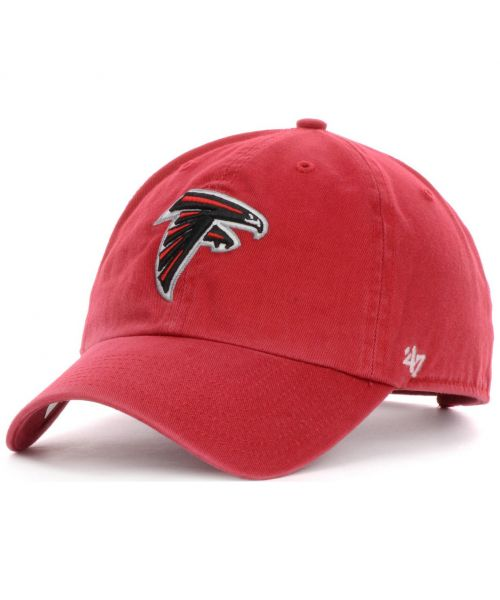 '47 Brand Atlanta Falcons NFL Clean Up Adjustable Adult Hat Red