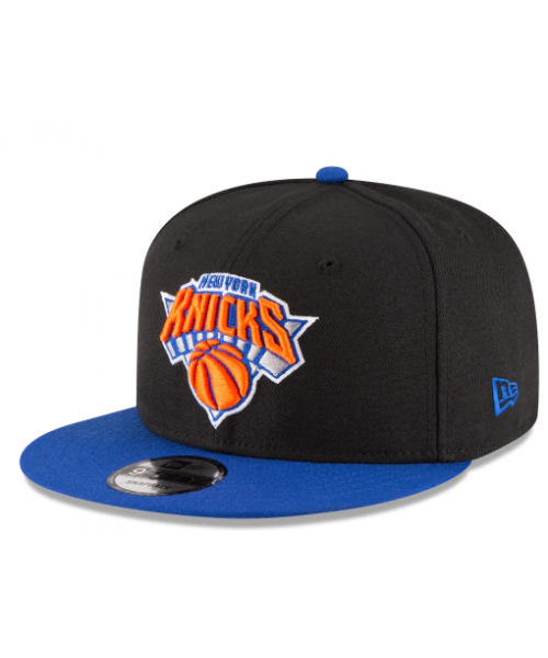 New Era New York Knicks NBA 2Tone 9FIFTY Snapback Adult Hat Black Blue