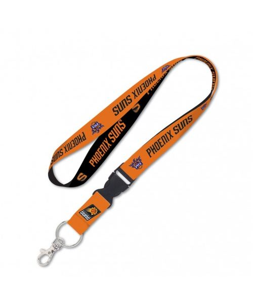 Wincraft Phoenix Suns NBA Authentic Lanyard Two Tone with Detachable Buckle Black Orange
