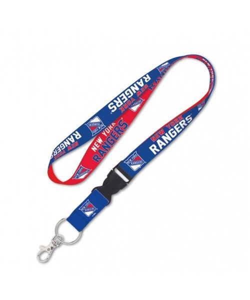 Wincraft New York Rangers NHL Authentic Lanyard Two Tone with Detachable Buckle Blue Red