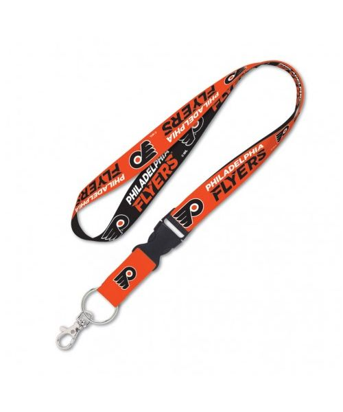Wincraft Philadelphia Flyers NHL Authentic Lanyard Two Tone with Detachable Buckle Black Orange