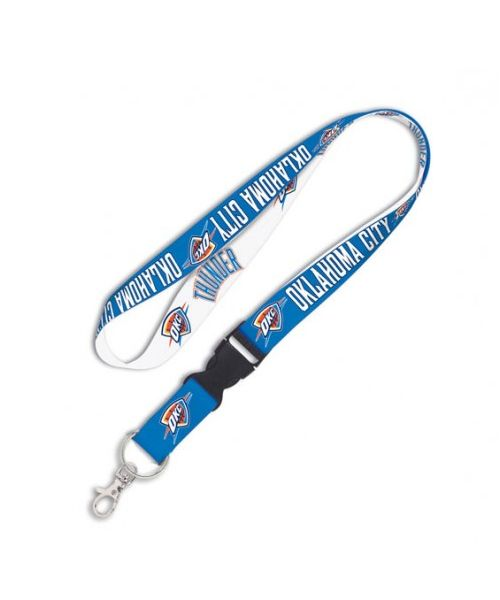 Wincraft Oklahoma City Thunder NBA Authentic Lanyard Two Tone with Detachable Buckle White Light Blue
