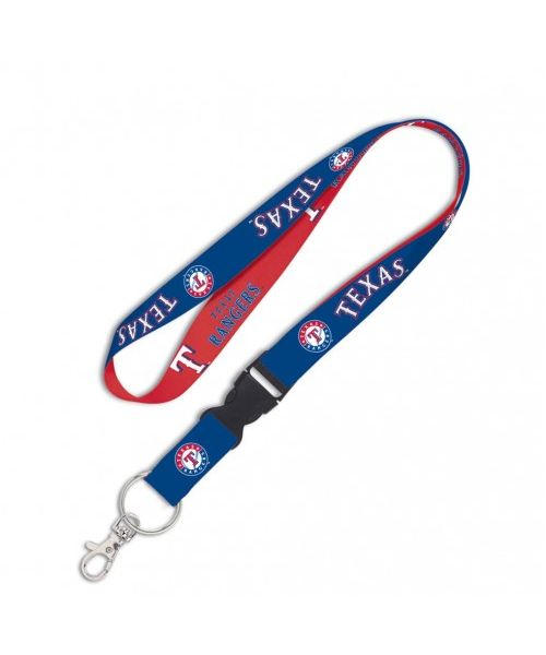 Wincraft Texas Rangers MLB One Size Lanyard with Detachable Buckle Blue Red