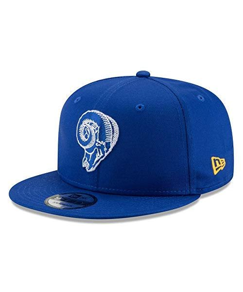 New Era Los Angeles Rams NFL Basic OTC Skull Logo 9FIFTY Snapback Hat Blue