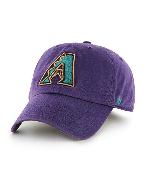 '47 Brand Arizona Diamondbacks MLB Clean Up Adjustable Strapback Hat Purple