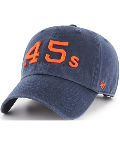 '47 Brand Houston Astros MLB Cooperstown Clean Up Strapback Hat Navy Blue